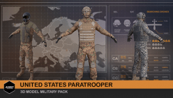 3D US Paratrooper Soldier - Game Character Production - Applying Industry Standards across Production Pipeline - promoted picture