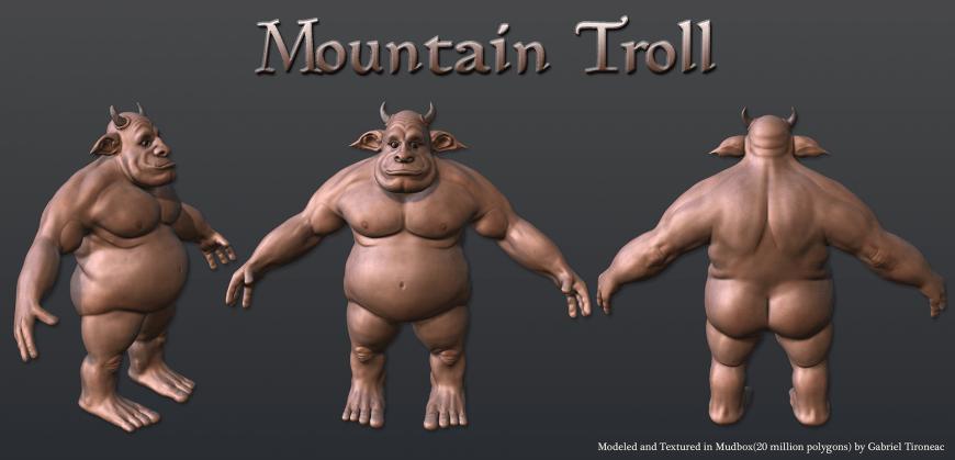 Mobile Game Development CGI Troll Model