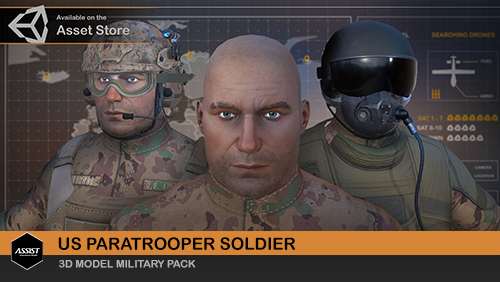 3D US Paratrooper Soldier on the Unity Asset Store - ASSIST Software