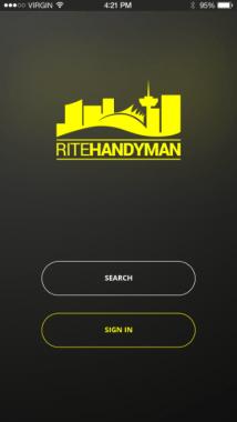 Rite App Screenshot first screen