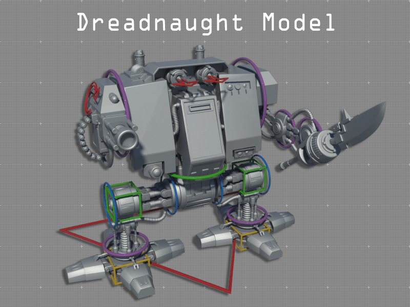 High Poly Dreadnought Model