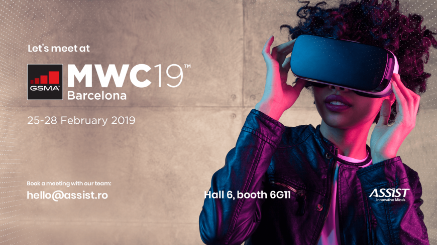 Meet ASSIST Software at the Mobile World Congress 2019 in Barcelona - promoting cover