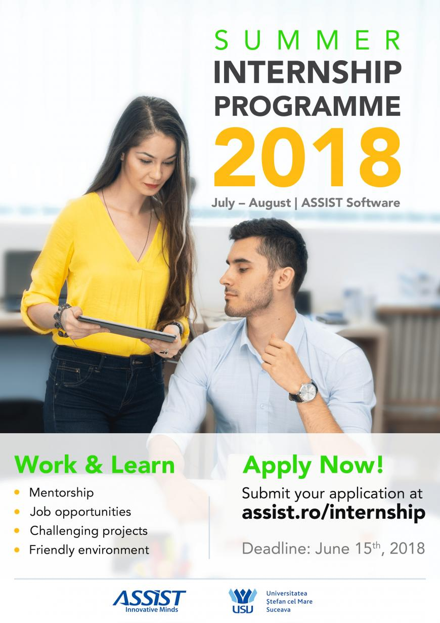 Apply for the Summer Internship Programme at ASSIST Software