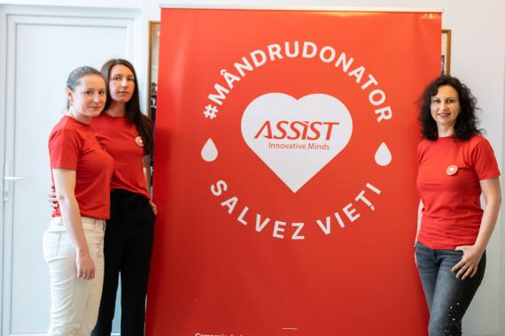 Muşatinii Typography team joined ASSIST Software blood donation campaign