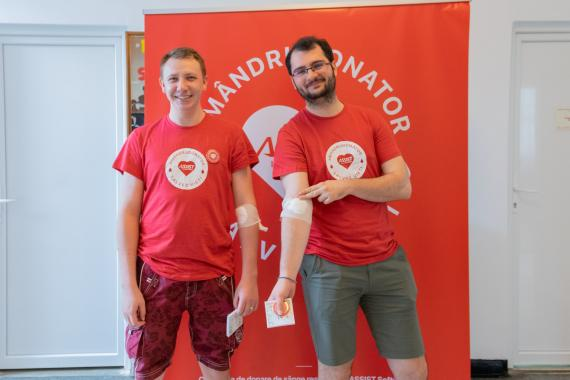 ASSIST Software employes donating blood for the first time
