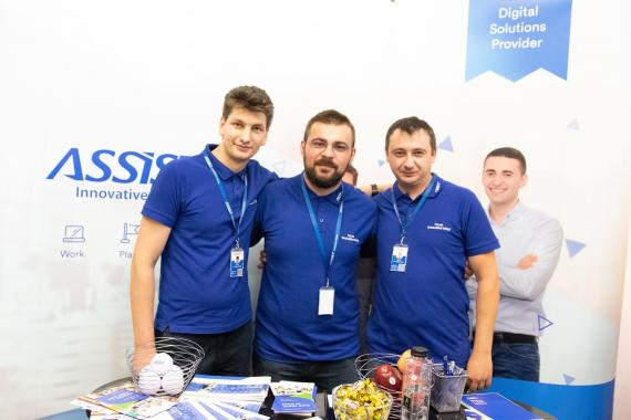 ASSIST Software employees at Codecamp Chișinău 2018