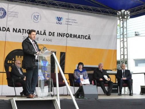 The National Olympiad in Informatics 2019 big opening, at which ASSIST Software is a sponsor