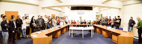 Panorama photo with all the participant at the Best Innovative Minds contest, powered by ASSIST Software 2017