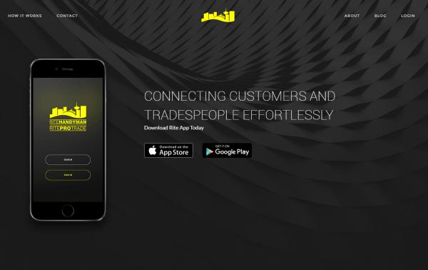 Rite App screenshot wep app