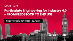 ASSIST Software will attend the Particulate Engineering for Industry 4.0 seminar in London, November 27th 2018 - Meet us there